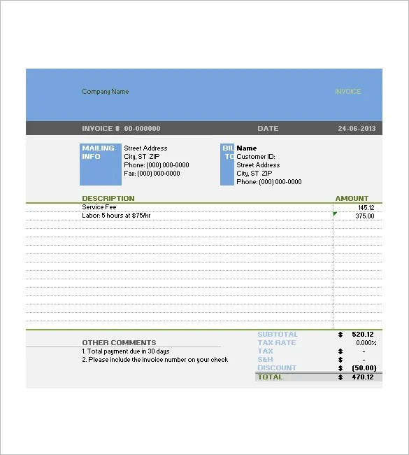 Tax Invoice Template - 19+ Free Word, Excel, PDF Format Download