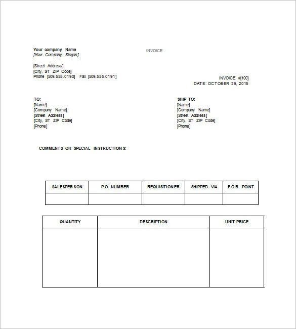 word doc receipt template - Maggilocustdesign - free invoice word template