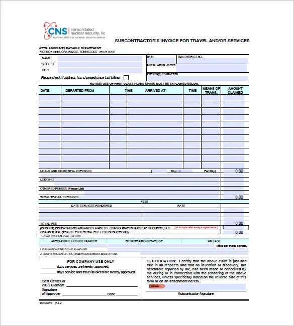 Travel Invoice Templates - 18+ Free Word, Excel, PDF Format Download - Invoice Copy Format