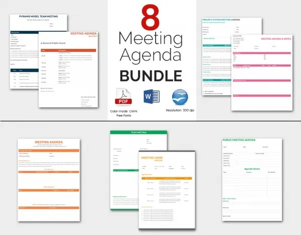 Meeting Agenda Template - 46+ Free Word, PDF Documents Download - business meeting template microsoft word