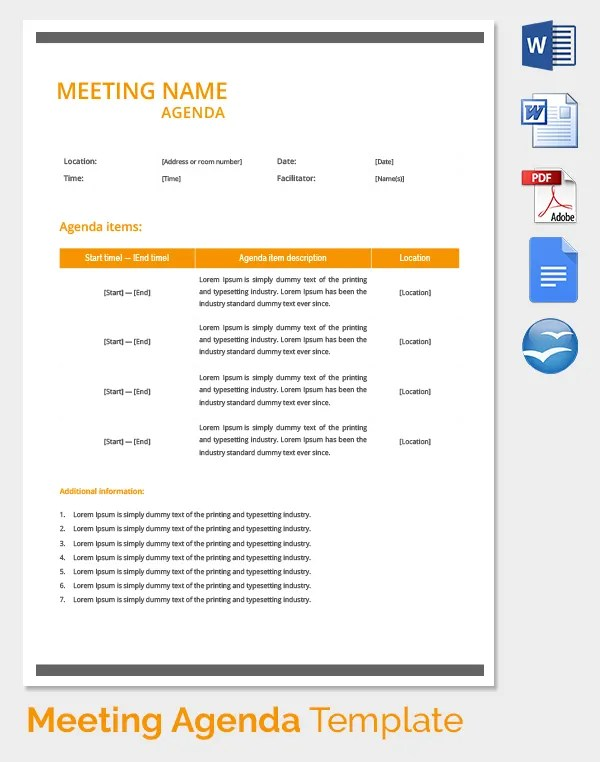 Meeting Agenda Template - 46+ Free Word, PDF Documents Download