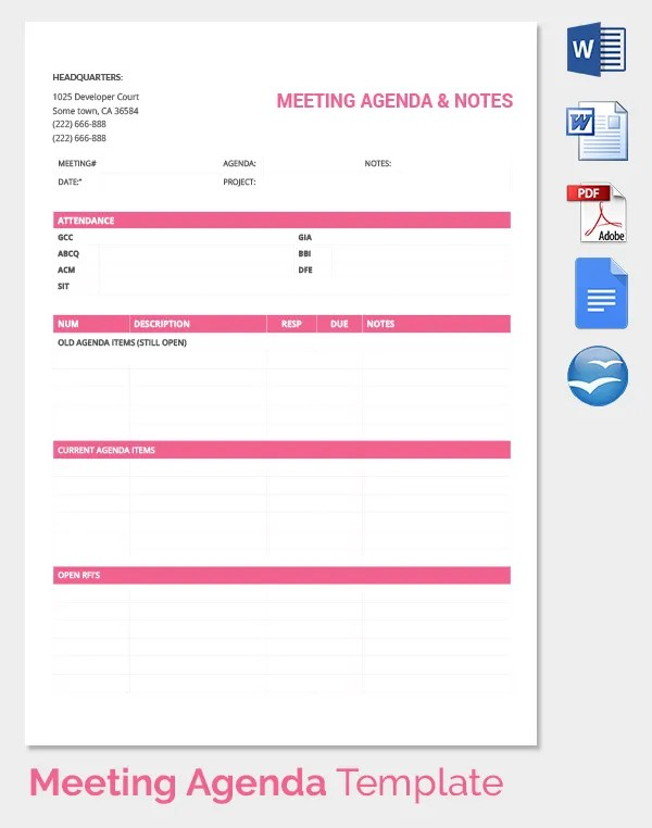 meeting notes template word - Vatozatozdevelopment