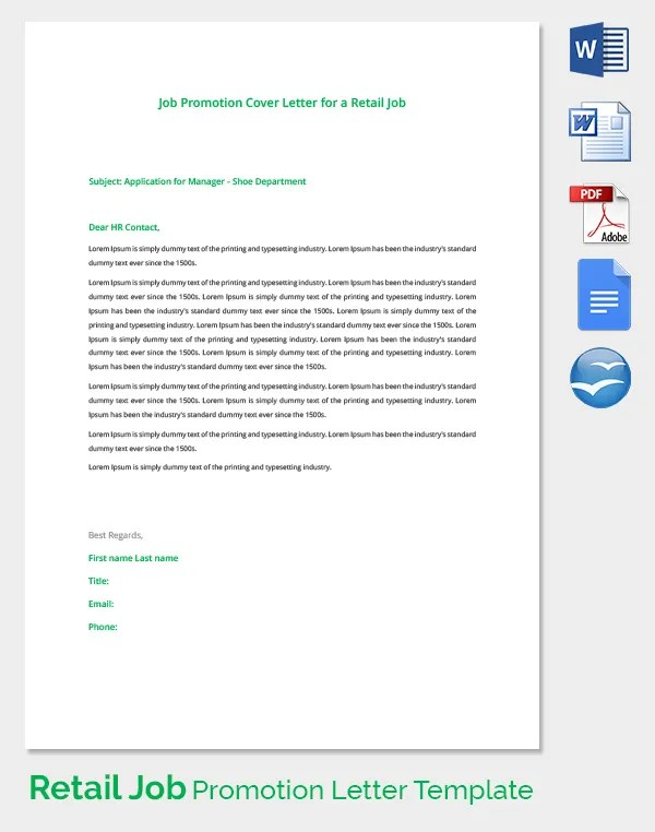 Hr Promotion Letter Sample | Resume Examples Human Resources Manager