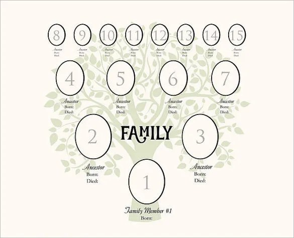 Gen Family Tree Template  Resume Template Sample