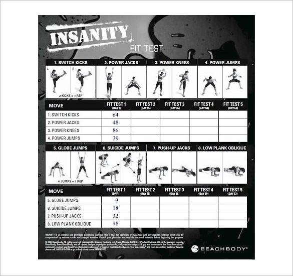 Fitness Plan Templates - gauheo