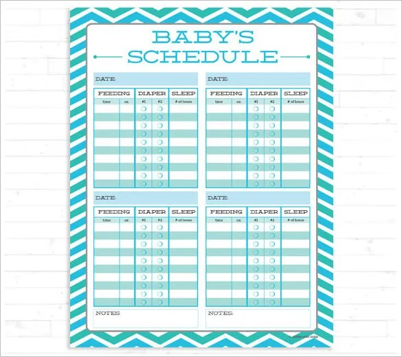 Baby Schedule Template u2013 10+ Free Sample, Example Format Download - baby feeding chart