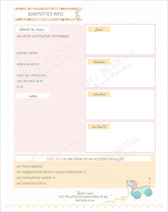 9+ Baby Schedule Templates- DOC, PDF, PSD Free  Premium Templates
