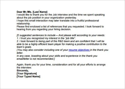 Thank You Email After Phone Interview - 6+ Free Sample, Example, Format Download! | Free ...