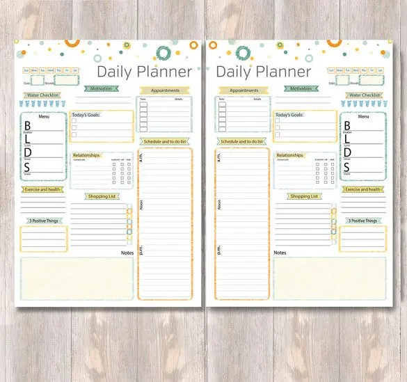 Exercise Schedule Template \u2013 10+ Free Sample, Example Format