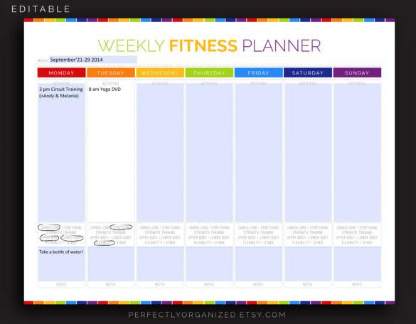 9+ Exercise Schedule Templates -DOC, PDF Free  Premium Templates