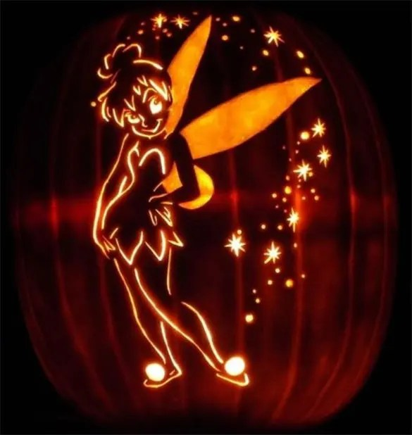 16+ Printable Tinkerbell Pumpkin Templates  Designs! Free - disney pumpkin templates
