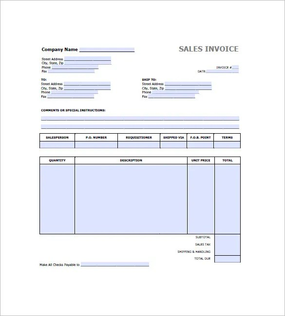 Retail Invoice Template - 12+ Free Word, Excel, PDF Format Download - invoice with gst template
