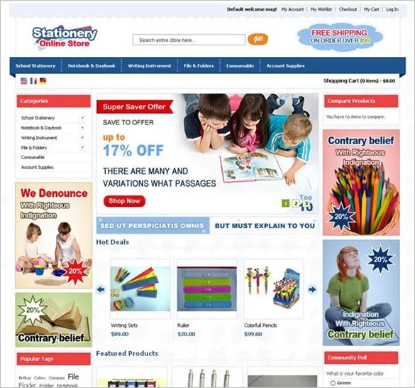 13+ Stationery Magento Themes  Templates Free  Premium Templates