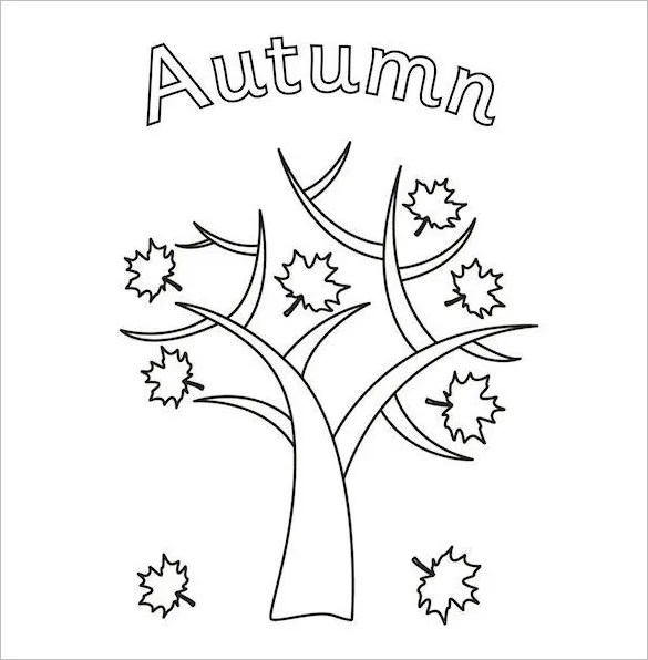 20+ Autumn Coloring Pages - Free Word, PDF, JPEG, PNG Format