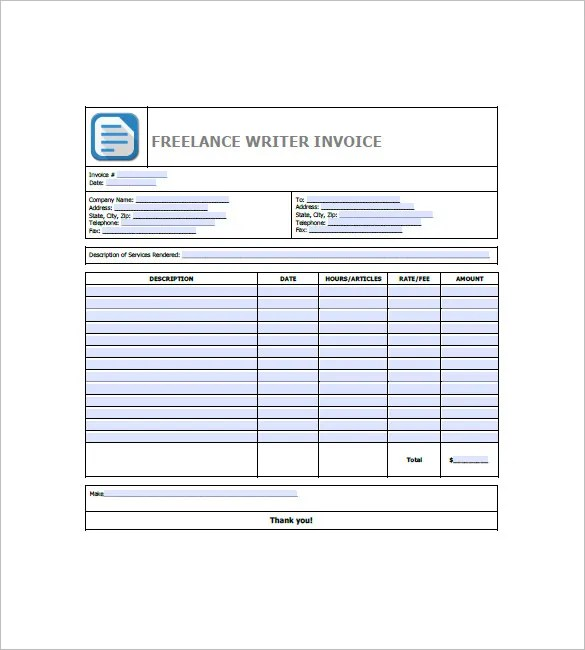 Freelance Invoice Template u2013 8+ Free Word, Excel, PDF Format - freelance invoices