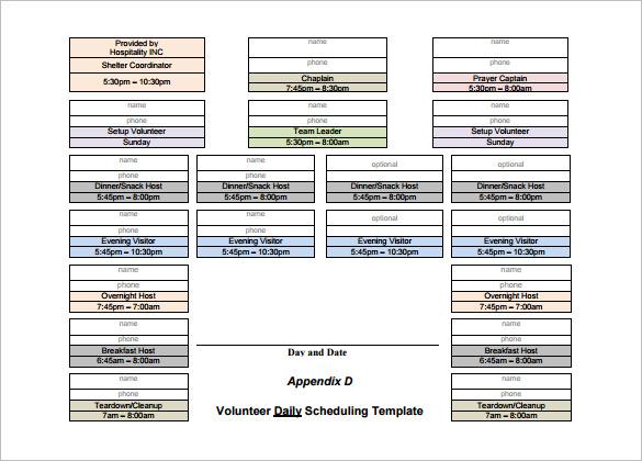 9+ Volunteer Schedule Templates - PSD, DOC Free  Premium Templates