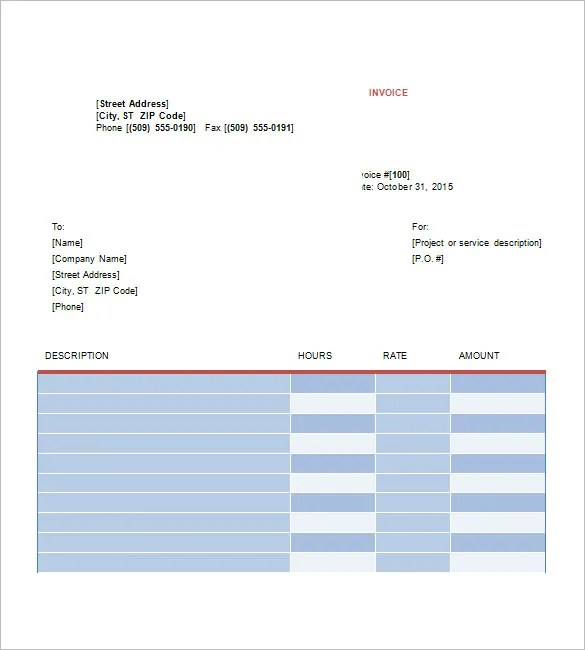 Graphic Design Invoice Templates \u2013 8+ Free Word, Excel, PDF Format