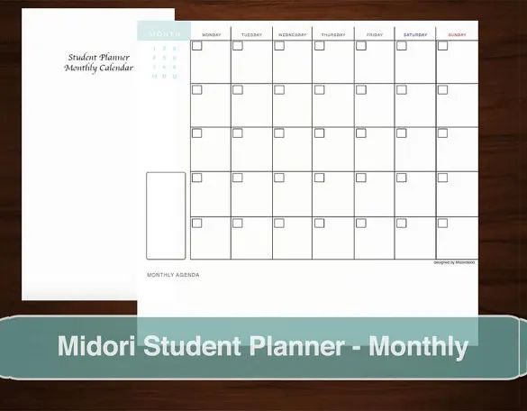 student planner for college