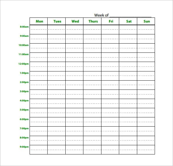Study Schedule Templates \u2013 17+ Free Sample, Example Format Download - exam study schedule template