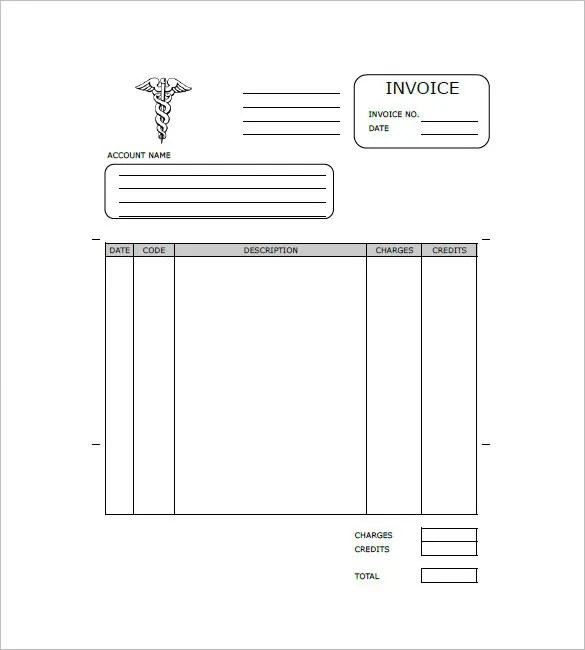 Medical Invoice Template - 12+ Free Word, Excel, PDF Format Download - bill invoice template free