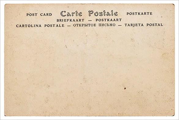 Postcard Template - 47+ Free Printable Word, Excel, PDF, PSD - free postcard template download