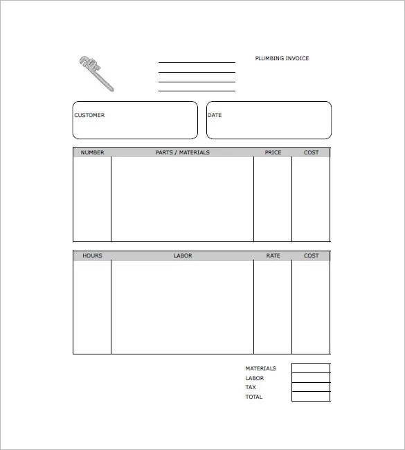 Plumbing Invoice Template - 8+ Free Word, Excel, PDF Format Download