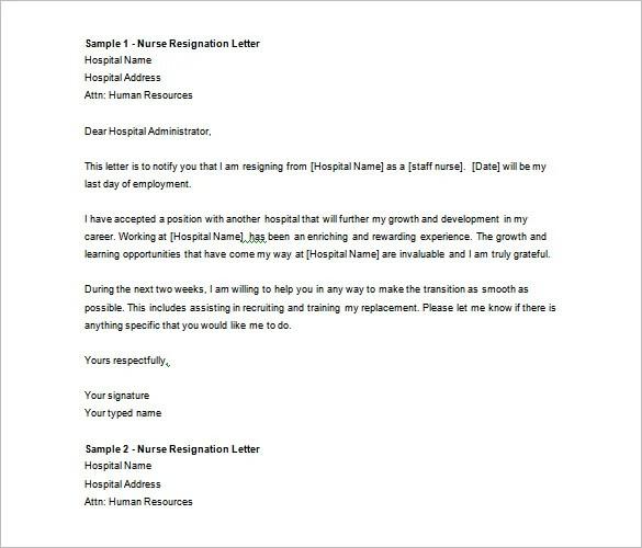 sample resignation letter one month notice resignation letter word