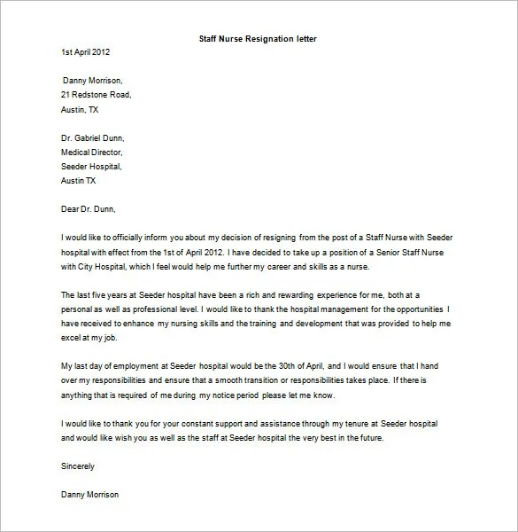 Resignation Letter Template - 17+ Free Word, PDF Format Download