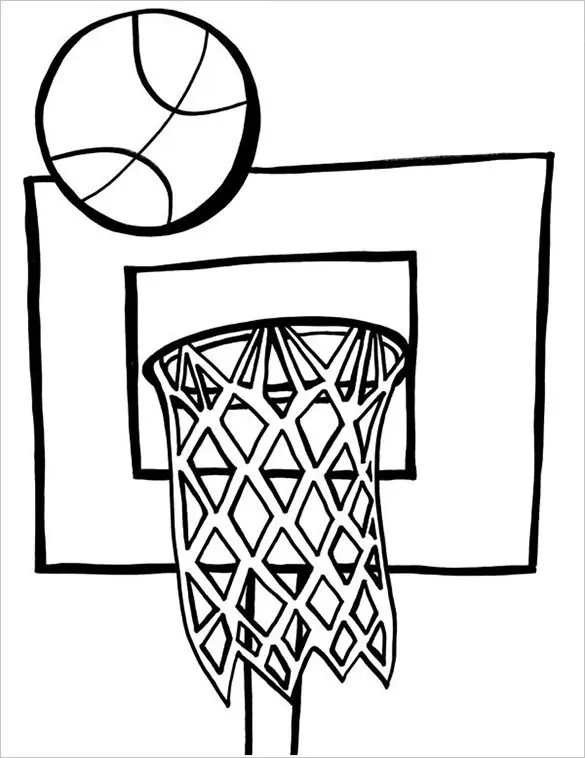 19+ Basketball Coloring Pages - PDF, JPEG, PNG Free  Premium