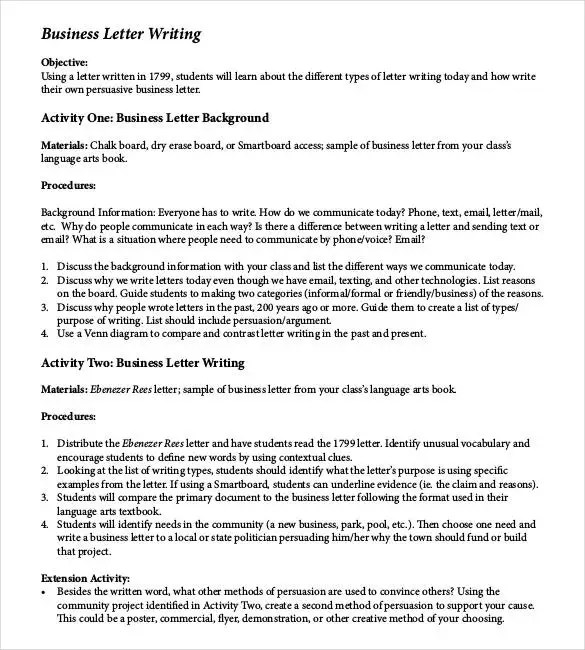 50+ Business Letter Template - Free Word, PDF Documents Free - formal letter word template