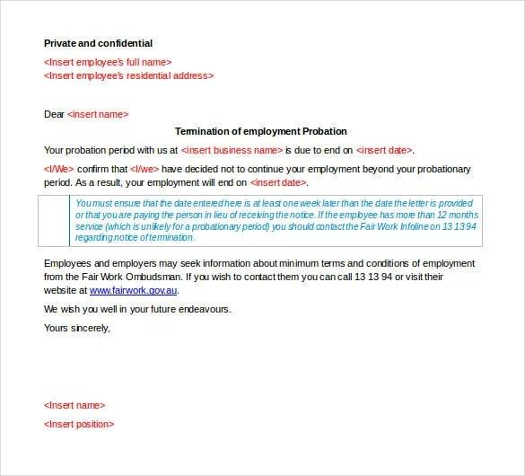 23+ Free Termination Letter Templates - PDF, DOC Free  Premium - employment termination letters