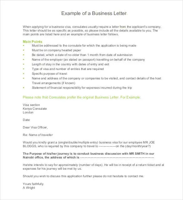 50+ Business Letter Template - Free Word, PDF Documents Free - Business Letter Example