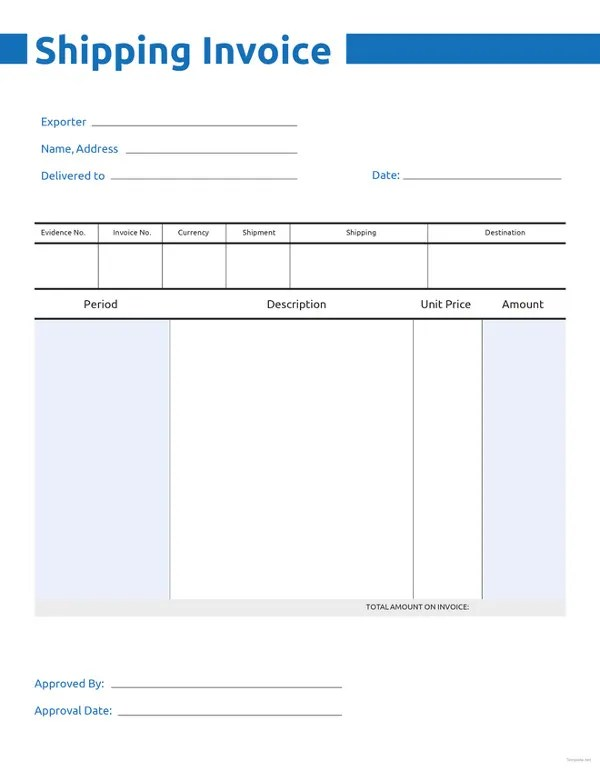Invoice Template - 47+ Free Word, Excel, PDF, PSD Format Download - free editable invoice template pdf