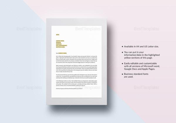 Beautiful Encouragement Letter Template Images - Resume Samples - encouragement letter template
