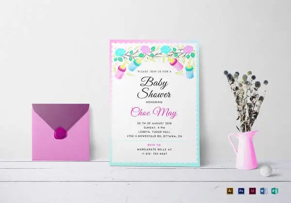 68+ Microsoft Invitation Template - Free Samples, Examples  Format - baby shower invitations for word templates