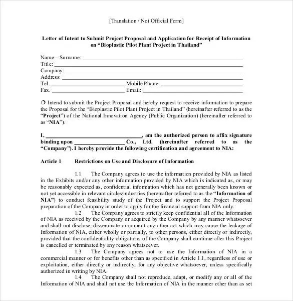 Proposal Letter Template - 24+ Free Word, PDF Document Formats - letter of proposal
