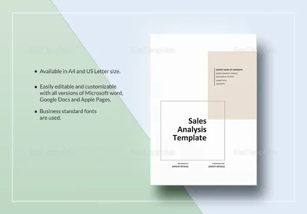 Sales Analysis Template \u2013 9+ Free Word, Excel, PDF Format Download
