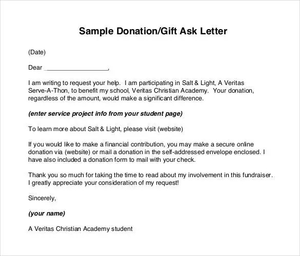 Sample Request Forms Donation Letter Template Free Word Pdf - donation request forms template