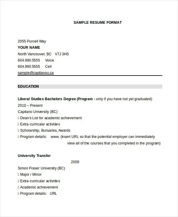 30+ Best Resume Formats - DOC, PDF, PSD Free  Premium Templates