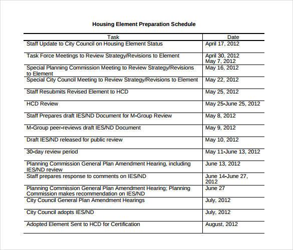 Staff Schedule Template \u2013 8+ Free Word, Excel, PDF Format Download - staff schedule template