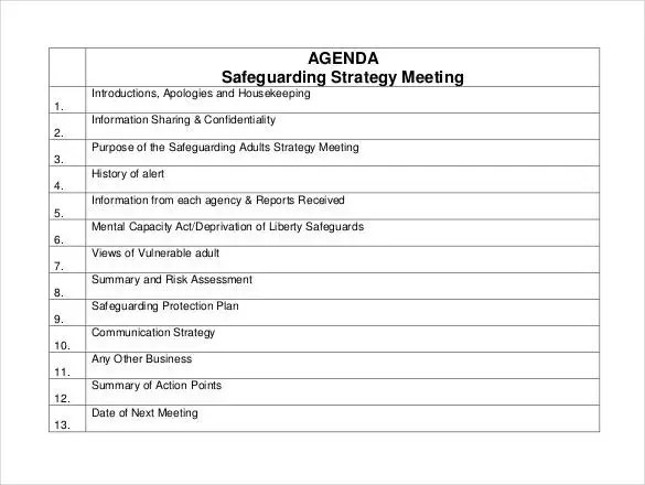 Meeting Agenda Template - 46+ Free Word, PDF Documents Download - agenda of meeting format