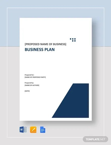 22+ Small Business Plan Template - Google Docs, MS Word, Pages