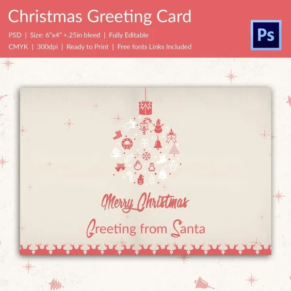 126+ Christmas Greeting Card Templates \u2013 Free PSD, EPS, AI