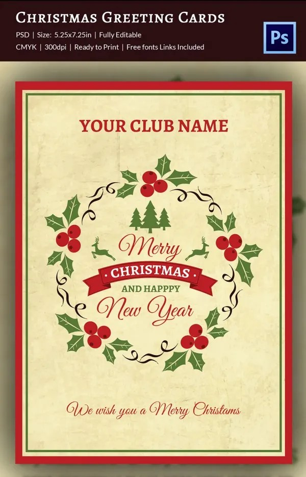 21+ Christmas Greeting Cards - PSD Format Download Free  Premium