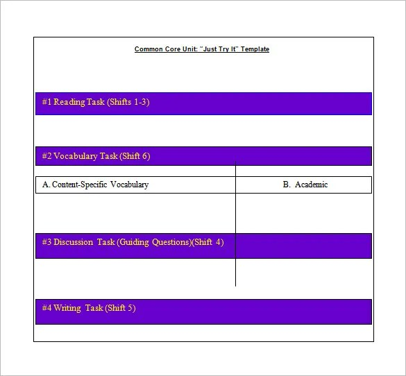 8+ Common Core Lesson Plan Template - PDF, DOC Free  Premium