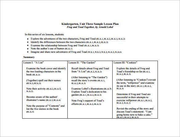 Common Core Lesson Plan Template \u2013 8+ Free Word, Excel, PDF Format - sample common core lesson plan