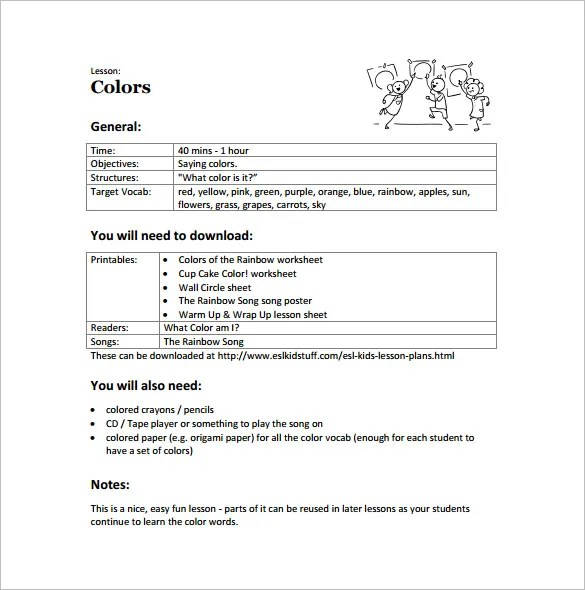 Toddler Lesson Plan Template \u2013 10+ Free Sample, Example, Format - sample toddler lesson plan template