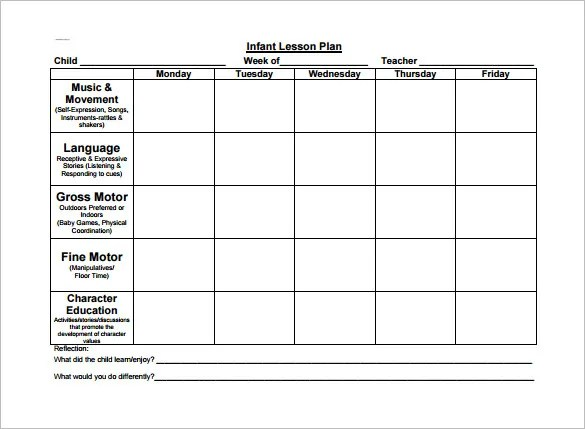 Toddler Lesson Plan Template \u2013 10+ Free Sample, Example, Format