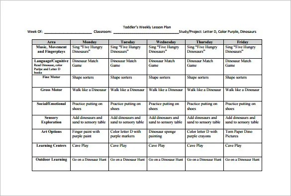 Weekly Lesson Plan Template \u2013 10+ Free Sample, Example, Format - sample weekly lesson plan
