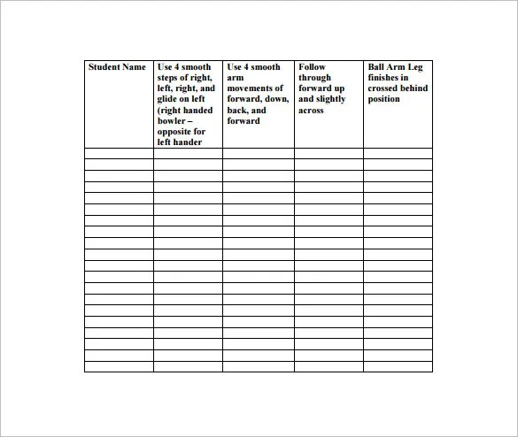 Physical Education Lesson Plan Template \u2013 8+ Free Sample, Example